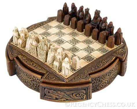 decorative chess set the regency chess company isle of lewis compact decorative chess set the regency chess