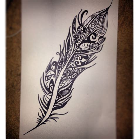 tribal feather tattoo designs tribal feather sharpie drawing artist s inspiration