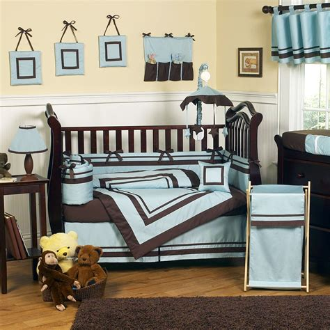 baby blue bedding excited brown and blue bedding for nursery atzine com