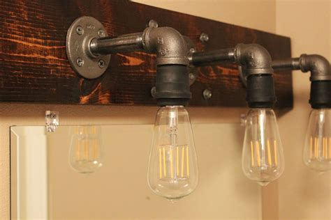 Bathroom Mirror Ideas Diy by Diy Industrial Bathroom Light Fixtures