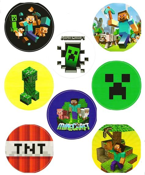 printable minecraft stickers 17 best minecraft party ideas images on pinterest