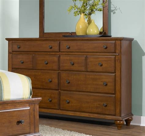 light cherry wood chest of drawers hayden place light cherry drawer dresser from broyhill