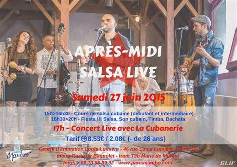 apres midi dansant avec orchestre au mambo ambiance retro la cubanerie apr 232 s midi salsa live le 27 juin 2015