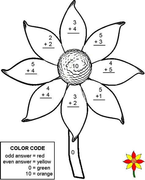 spring coloring pages math spring math worksheets addition color by number
