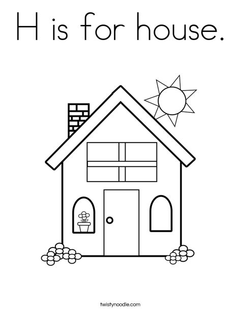 letter h is for house coloring page bulk color letter h is for house h is for house coloring page twisty noodle