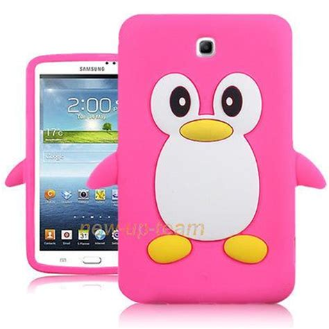cute themes for galaxy tab 3 cute penguin soft rubber case cover for samsung galaxy tab