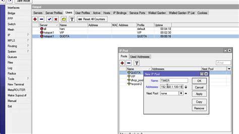 membuat user profile hotspot mikrotik r hani prasetya management user hotspot mikrotik profile