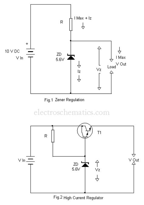 regulated power supply using zener diode power supply regulation