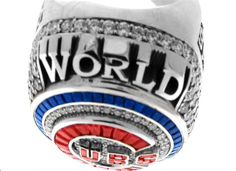 cubs rings the 2016 cubs world series rings are badass