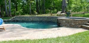 Backyard Pools On A Hill Pool Built Into Hill Backyard Pool Ideas