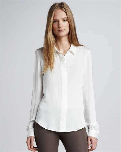 Theory Blouse by Theory White Blouse Sale Chevron Blouse