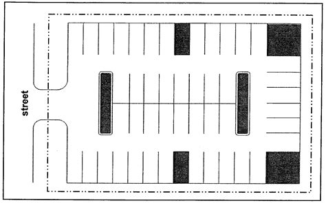 Parking Lot Size For 100 Cars Cars Image 2018 Parking Lot Layout Template