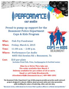 justin tx fire department fish fry 2015 city of beaumont texas cops kids fish fry fundraiser
