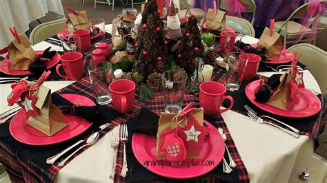 black and red christmas tablescapes this mitten tablescape is b lovely events