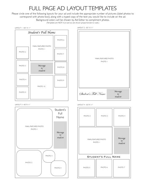 Layout Template C | 8 best images of print ad layout templates free flyer