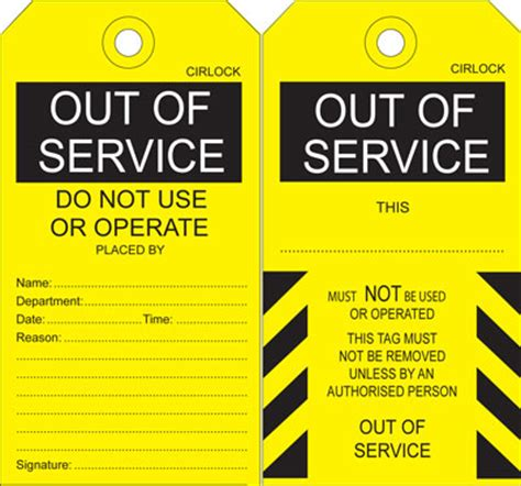 service tags danger warning out of service tags sdt 2 out of service tag