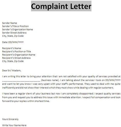 Complaint Letter Sle Bad Quality Doc 675709 What Is Complaint Letter In Business Communication Bizdoska