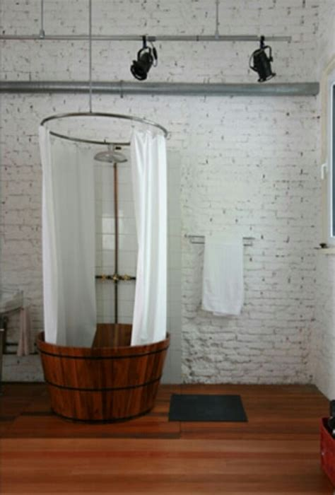 barrel bathtub barrel shower stall wine barrels pinterest awesome
