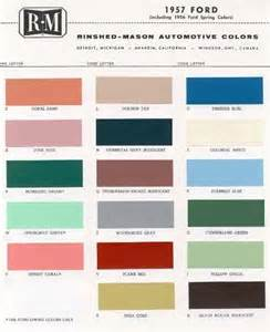 1957 ford paint color sle chips card colors ebay