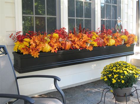 Window Box Decorating Ideas by Calling It Home Fall Window Boxes