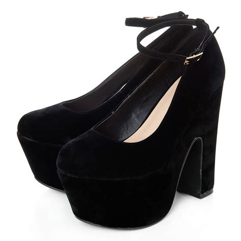 chunky platform high heel ankle shoe