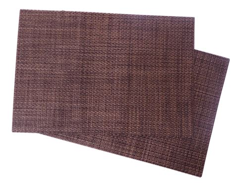 squish crossweave woven vinyl placemat set of 4 brown