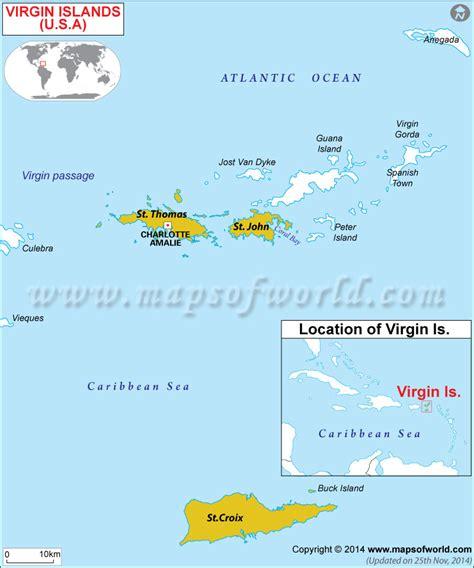 usvi map map of islands