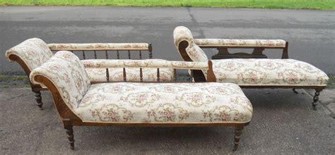 edwardian chaise longue three edwardian walnut framed upholstered chaise longue