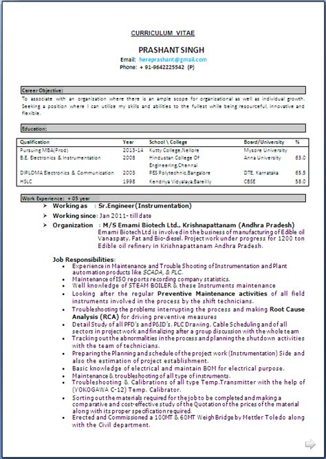 Instrument Commissioning Engineer Cover Letter by Instrument Commissioning Resume