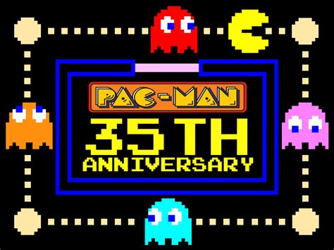 pacman anniversary pac 35th anniversary by pacdragon on deviantart