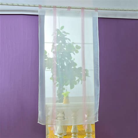 Sheer Kitchen Window Curtains New Liftable Blinds Sheer Kitchen Bathroom Balcony Window Curtain Voile Ebay