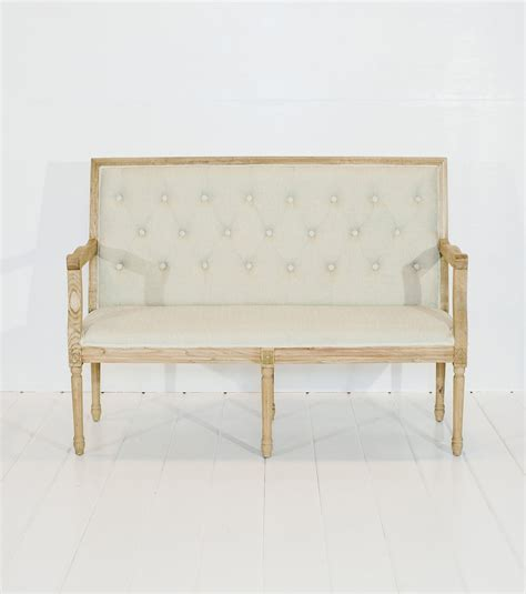 Vintage Sofa Rental Tufted Beige Loveseat Vintage Rentals In Connecticut