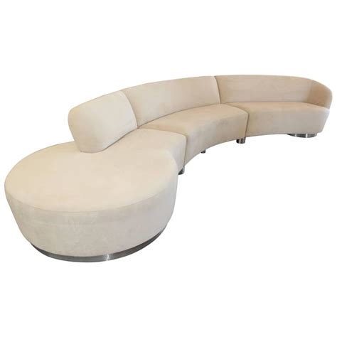 vladimir kagan serpentine sofa vladimir kagan serpentine sectional sofa at 1stdibs
