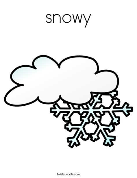 Snowy Coloring Pages snowy coloring page twisty noodle