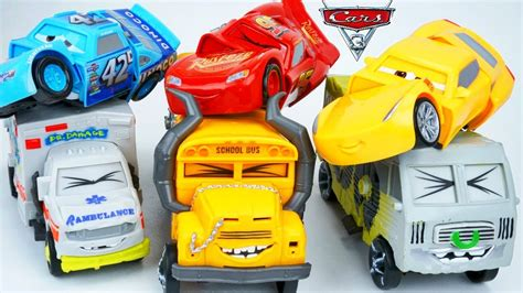 Cars 3 Mini Racers Dr Damage Hicks Dirt Mcqueen disney cars 3 crash crunch reck and race miss fritter hits dr damage