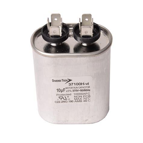 capacitor tariff code motor run capacitors 370vac single capacitance metal oval can diversitech