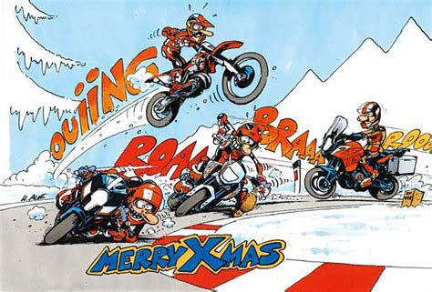Motocross Motorrad Comic by Xmas Comic Ktm