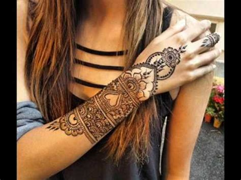 unique henna tattoo designs for arm love mehndi designs