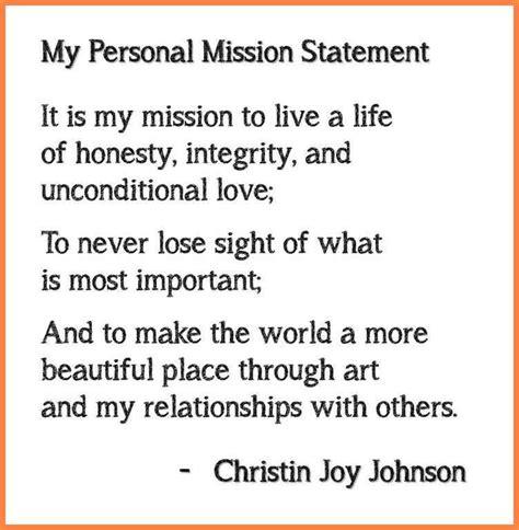 On Mission And Leadership 7 personal leadership mission statement exles personal statement exles