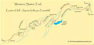 Western States Trail Map by Western States Trail