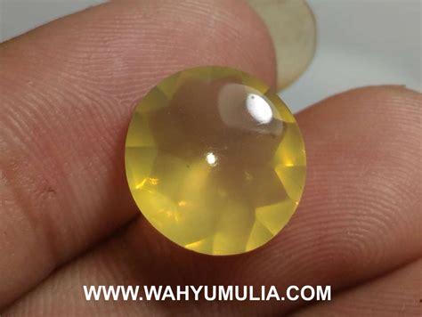 Cincin Barjad Api Hijau batu permata opal kuning lemon asli kode 540 wahyu