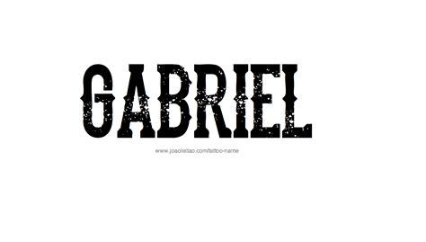 tattoo name gabriel gabriel name tattoo designs