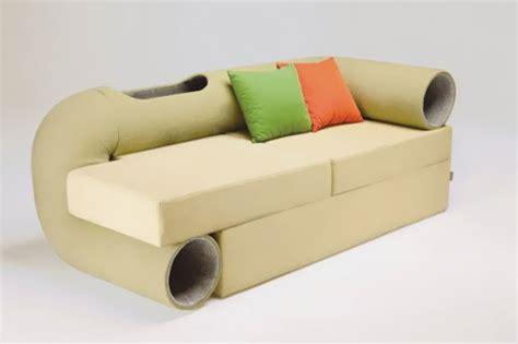cat tunnel sofa 30 clever furniture design ideas for pets designbump