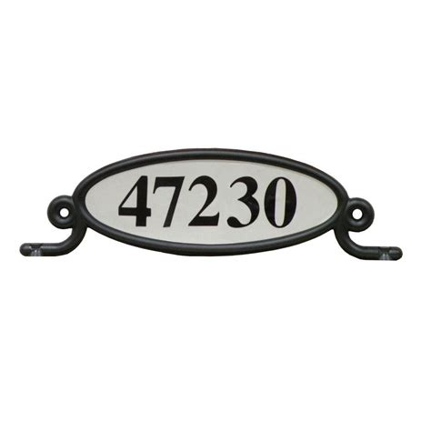 Gibraltar Address Finder Gibraltar Mailboxes Reflective Address Number Plaque Mbplaq0b The Home Depot