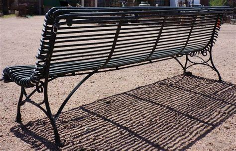 iron park benches french green painted wrought iron park bench at 1stdibs