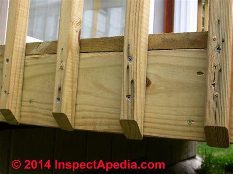 disadvantages   bottom rail  deck railing balusters