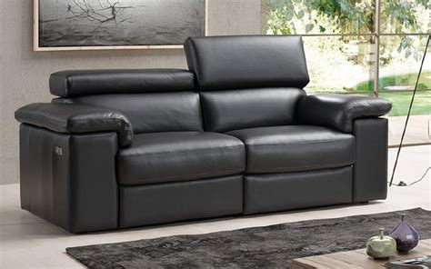 black leather 2 seater recliner sofa sorrento reclining 2 seater black italian leather leather