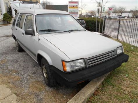1987 Toyota Tercel Mpg Purchase Used 1987 Toyota Tercel Station Wagon Runs As
