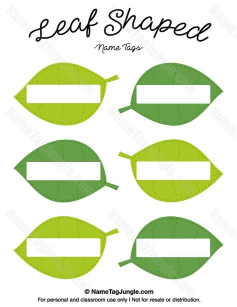 leaf pattern names free printable leaf shaped name tags the template can