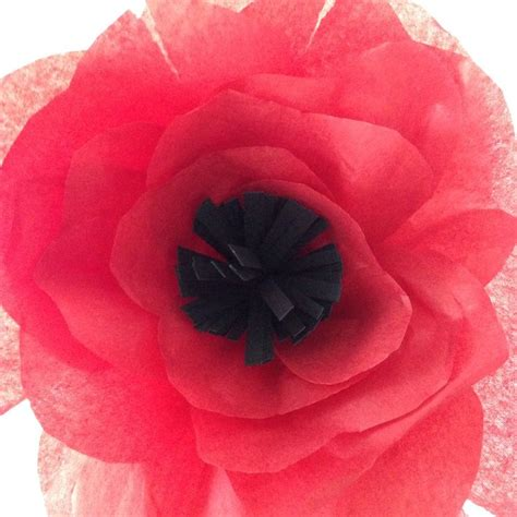 How To Make Tissue Paper Poppies - tissue paper poppy pins for crafts